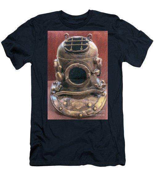 Deep Sea Diving Gold Men's T-Shirt (Athletic Fit)