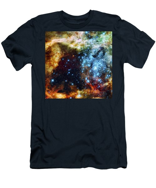 Deep Space Fire And Ice 2 Men's T-Shirt (Athletic Fit)