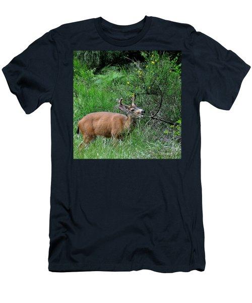 Deer Brunch Men's T-Shirt (Slim Fit) by Tanya Searcy