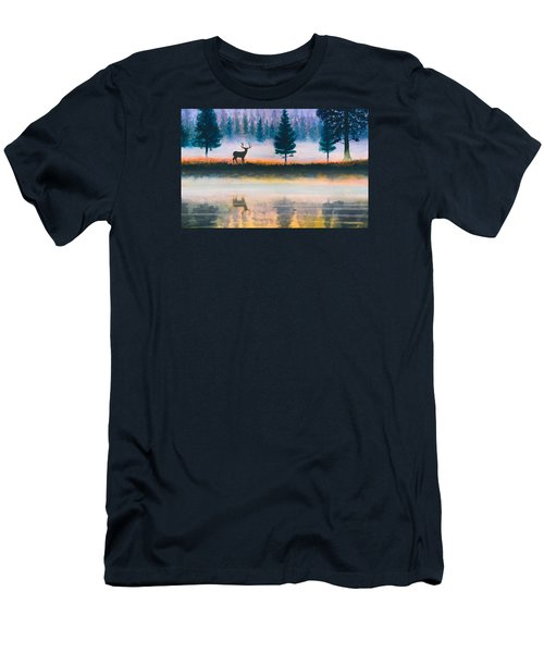Deer Morning Men's T-Shirt (Slim Fit) by Douglas Castleman