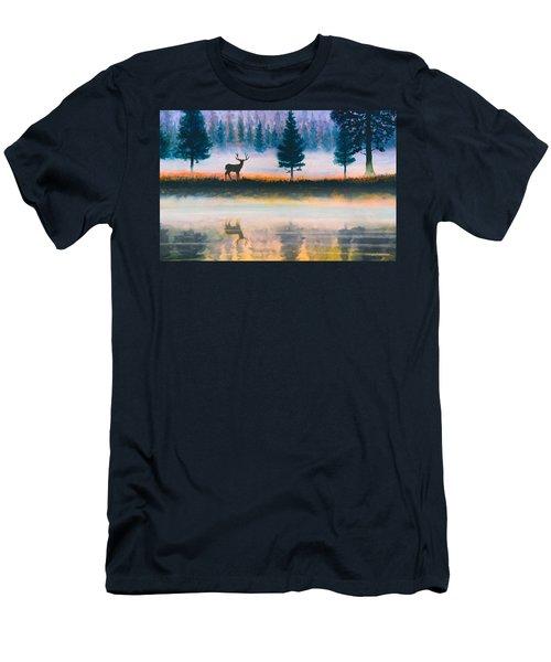 Deer Morning Men's T-Shirt (Athletic Fit)