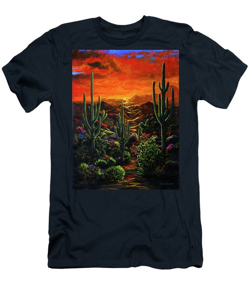 Desert Sunset Men's T-Shirt (Athletic Fit)