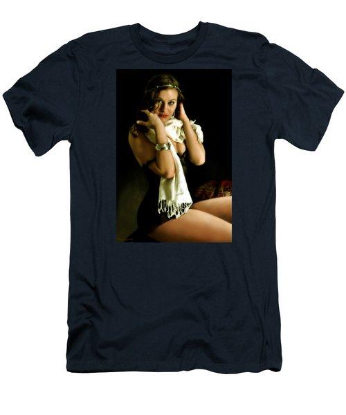 Digital Model Men's T-Shirt (Slim Fit) by Harvie Brown