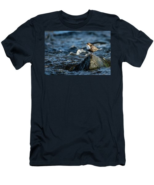 Men's T-Shirt (Slim Fit) featuring the photograph Dipper On The Rock by Torbjorn Swenelius