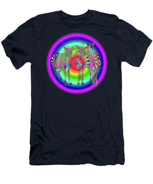 Disco Zebra Pop Art Men's T-Shirt (Athletic Fit)