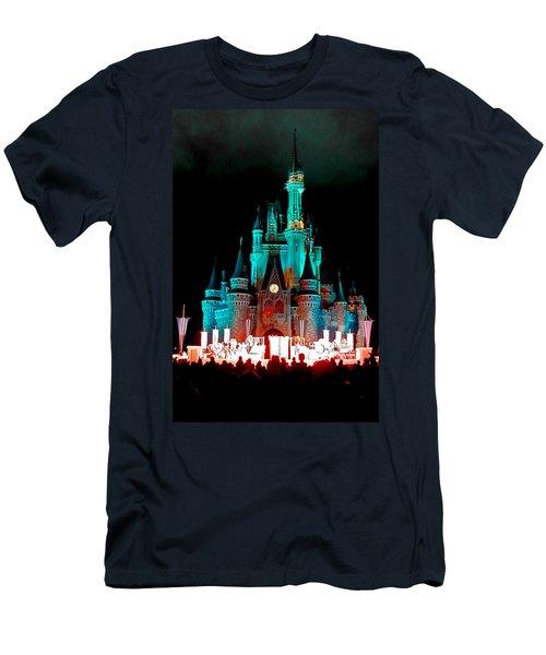 Men's T-Shirt (Slim Fit) featuring the photograph Disney World Night by John Haldane