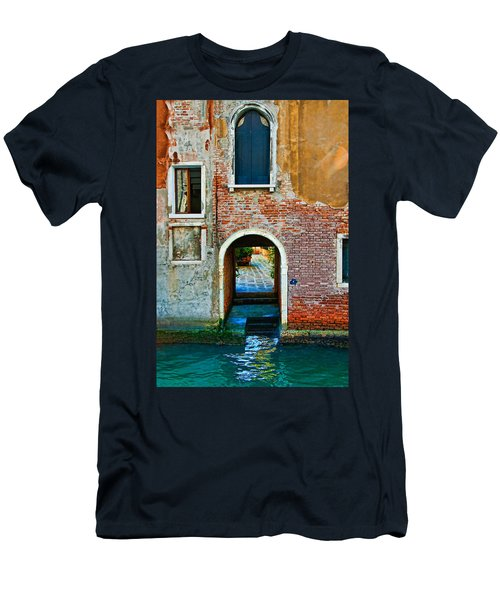 Dock And Windows Men's T-Shirt (Slim Fit) by Harry Spitz