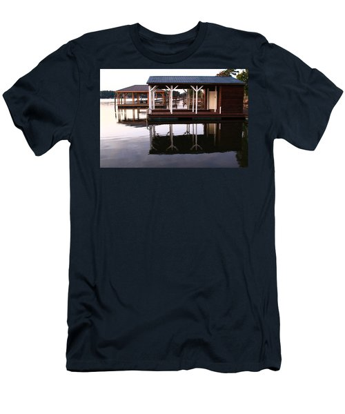 Dock Reflections Men's T-Shirt (Slim Fit) by Catie Canetti