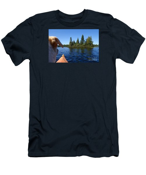 Men's T-Shirt (Slim Fit) featuring the photograph Dogs Love Kayaking Too by Sandra Updyke