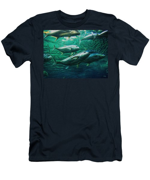 Don't Mess With Bluefin Jack Men's T-Shirt (Slim Fit) by Glenn McCarthy