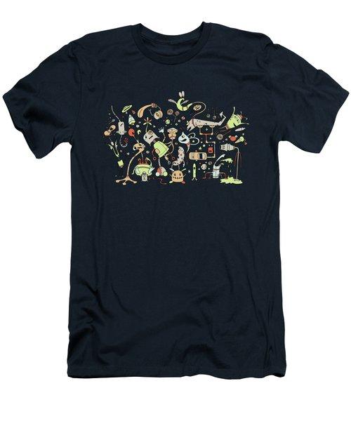 Doodle Bots Men's T-Shirt (Athletic Fit)