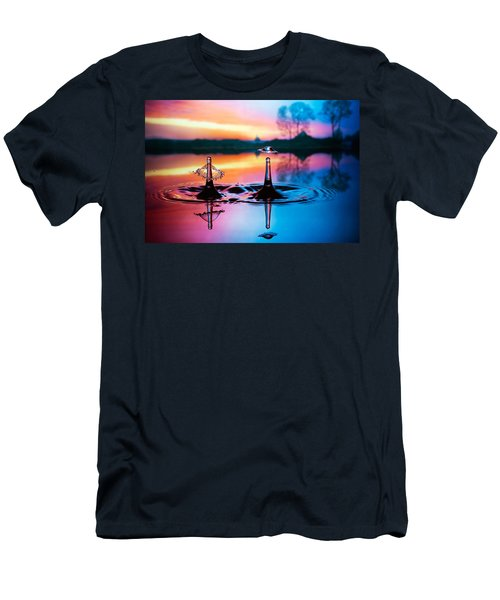 Men's T-Shirt (Slim Fit) featuring the photograph Double Liquid Art by William Lee