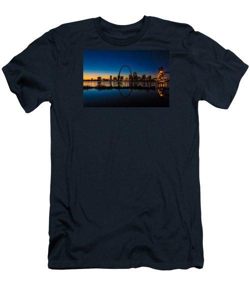 Downtown St. Louis And The Gateway Arch Men's T-Shirt (Slim Fit) by Matthew Chapman