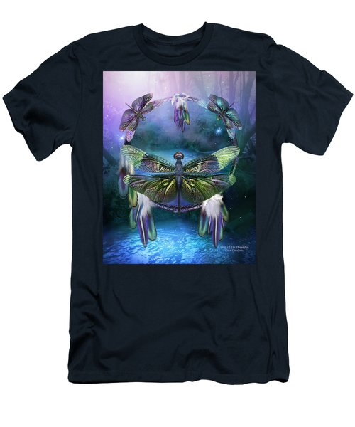 Dream Catcher - Spirit Of The Dragonfly Men's T-Shirt (Athletic Fit)