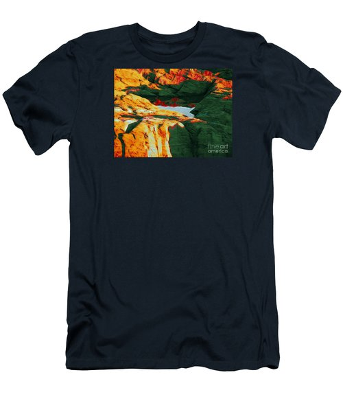 Dream Colors Men's T-Shirt (Slim Fit) by Marcia Lee Jones
