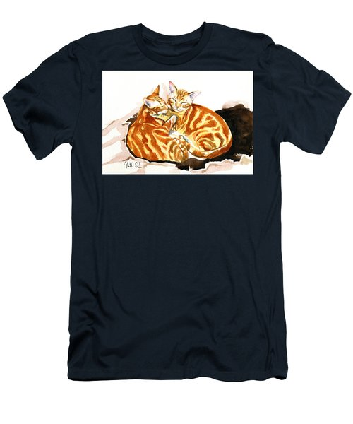 Dreaming Of Ginger - Orange Tabby Cat Painting Men's T-Shirt (Athletic Fit)