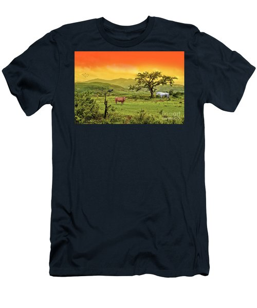 Men's T-Shirt (Slim Fit) featuring the photograph Dreamland by Charuhas Images
