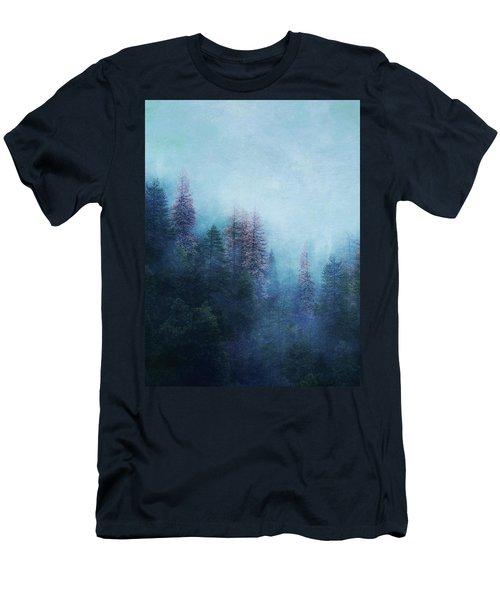 Men's T-Shirt (Slim Fit) featuring the digital art Dreamy Winter Forest by Klara Acel