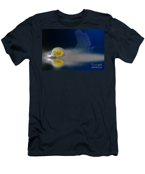 Droplet On A Cockatoo Feather Men's T-Shirt (Athletic Fit)