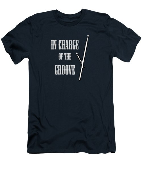 Drums In Charge Of The Groove 5530.02 Men's T-Shirt (Slim Fit) by M K  Miller