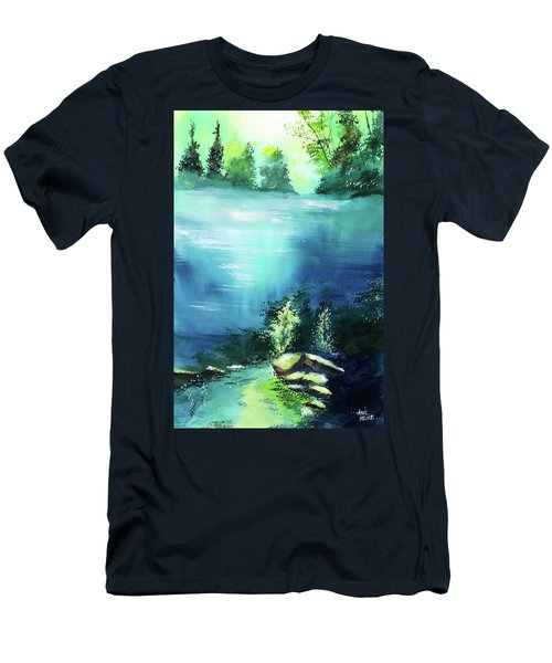 Men's T-Shirt (Slim Fit) featuring the painting Duality by Anil Nene