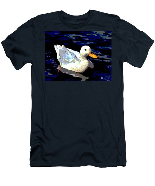 Duck In Water Men's T-Shirt (Slim Fit) by Charles Shoup