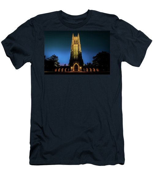 Duke Chapel Lit Up Men's T-Shirt (Athletic Fit)