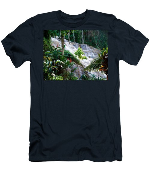 Dunn's River Falls Jamaica Men's T-Shirt (Athletic Fit)