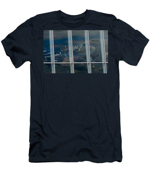 Men's T-Shirt (Slim Fit) featuring the photograph Duxford Dakota Daydream by Gary Eason