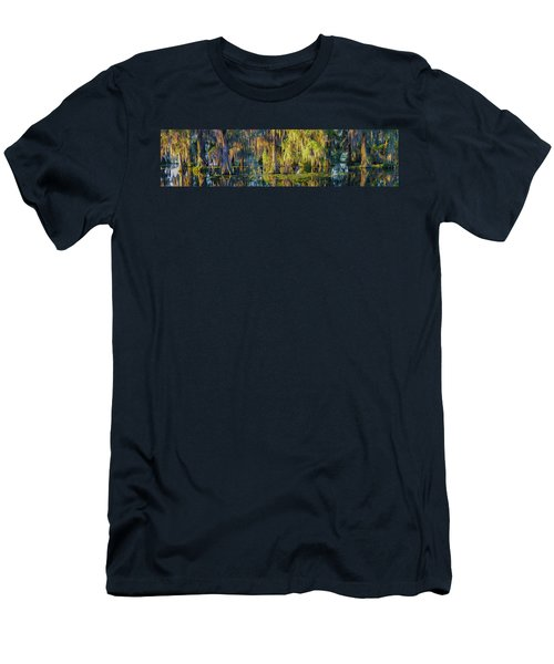 Early Morning Swampscape Men's T-Shirt (Slim Fit) by Kimo Fernandez