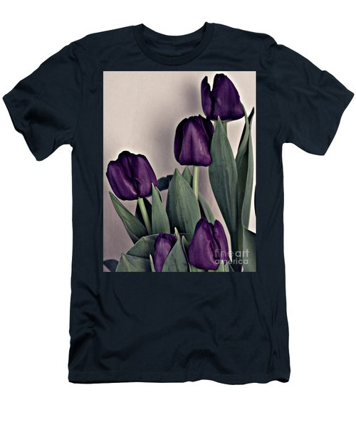 A Display Of Tulips Men's T-Shirt (Slim Fit) by Sherry Hallemeier