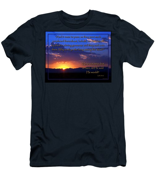 Easter Sunrise - He Is Risen Men's T-Shirt (Slim Fit) by Glenn McCarthy Art and Photography