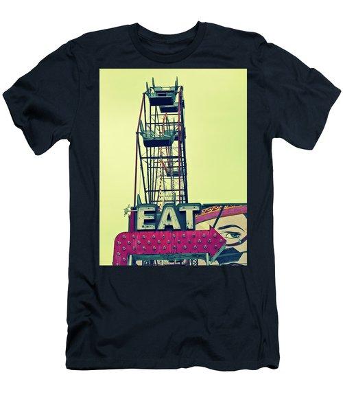 Eat Sign Men's T-Shirt (Athletic Fit)