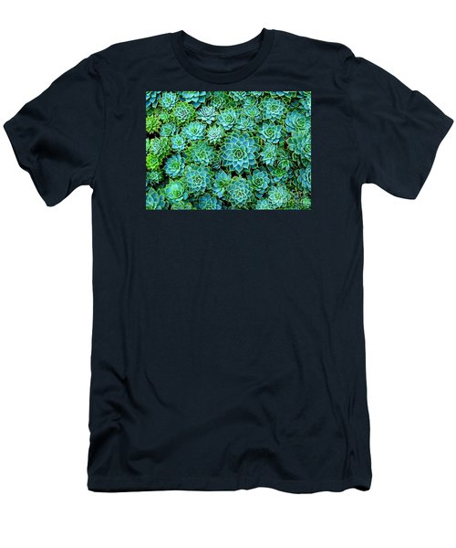 Men's T-Shirt (Slim Fit) featuring the photograph Echeveria 2 by Ranjini Kandasamy