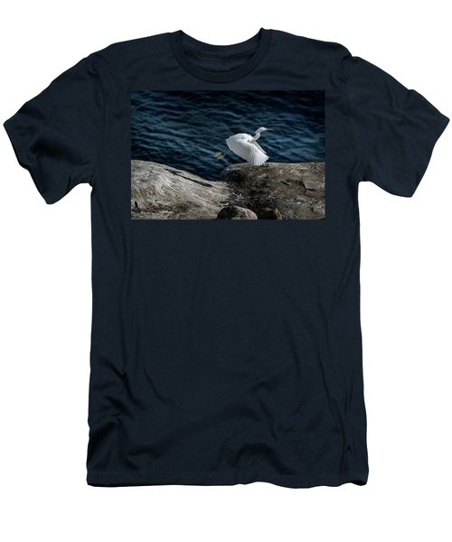 Egret Men's T-Shirt (Slim Fit) by James David Phenicie