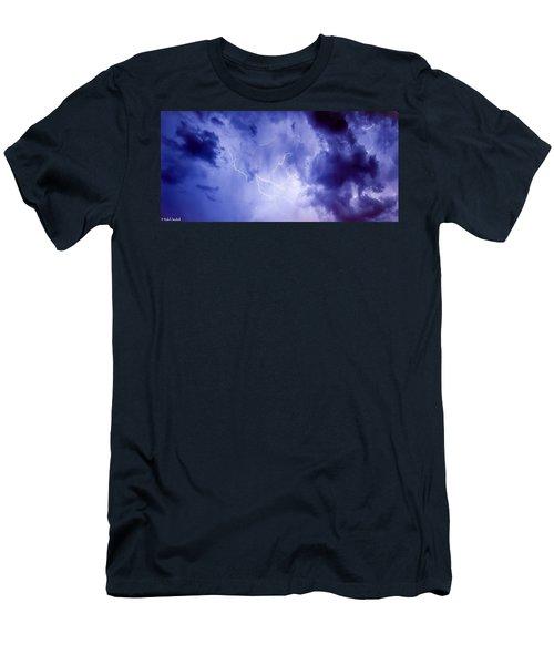 Electric Blue Men's T-Shirt (Athletic Fit)