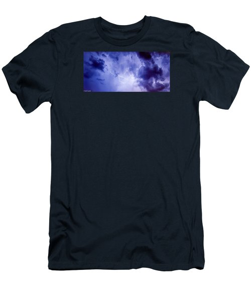 Electric Blue Men's T-Shirt (Athletic Fit)