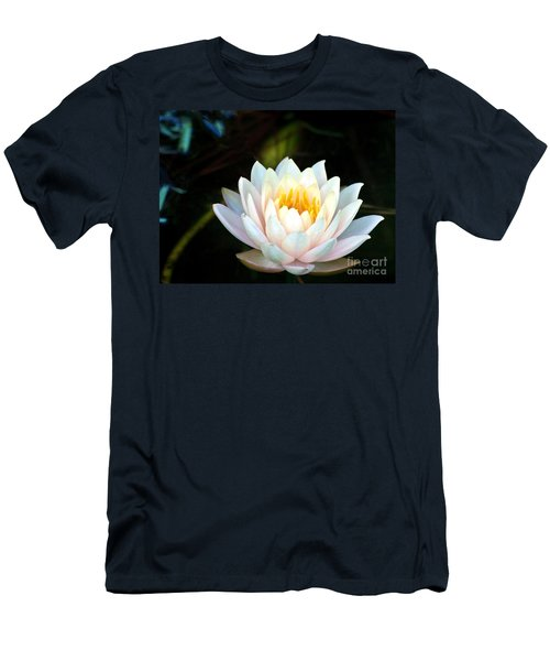 Elegant White Water Lily Men's T-Shirt (Athletic Fit)