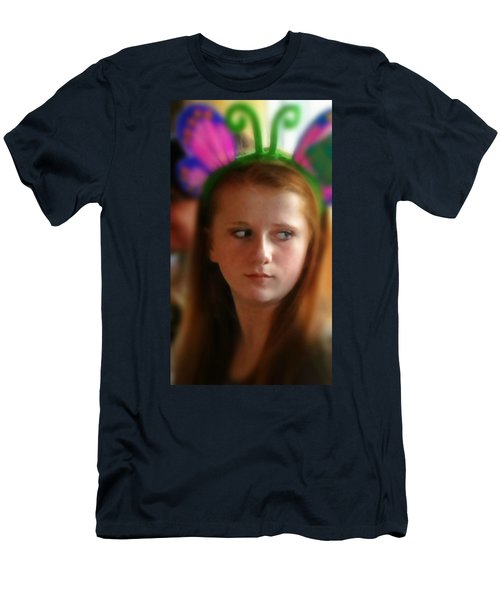 Men's T-Shirt (Slim Fit) featuring the painting Ella by Mindy Newman