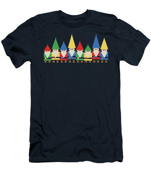 Elves On Blue Men's T-Shirt (Athletic Fit)