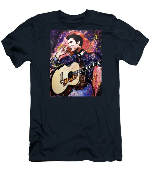 Elvis Presley Men's T-Shirt (Slim Fit) by Richard Day