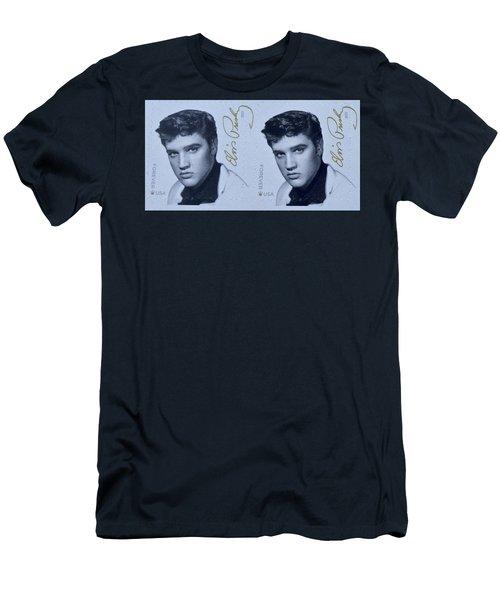 Elvis Stamps Men's T-Shirt (Slim Fit) by Caroline Stella