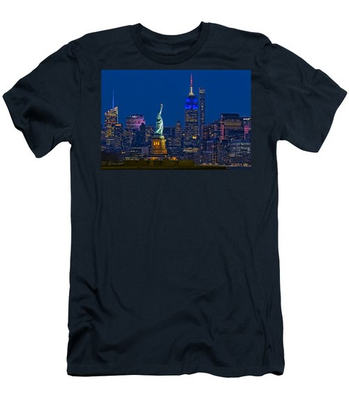 Empire State And Statue Of Liberty II Men's T-Shirt (Athletic Fit)