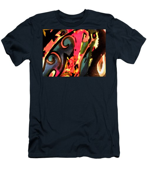 Men's T-Shirt (Slim Fit) featuring the mixed media En Joy by Sandi OReilly
