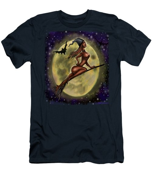 Enchanting Halloween Witch Men's T-Shirt (Athletic Fit)
