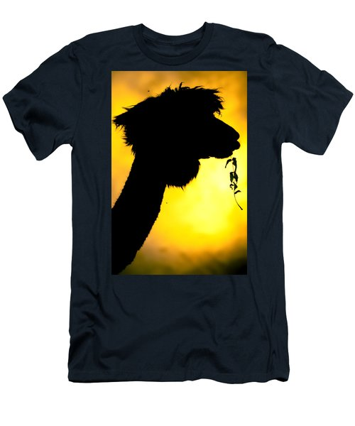 Men's T-Shirt (Athletic Fit) featuring the photograph Endless Alpaca by TC Morgan