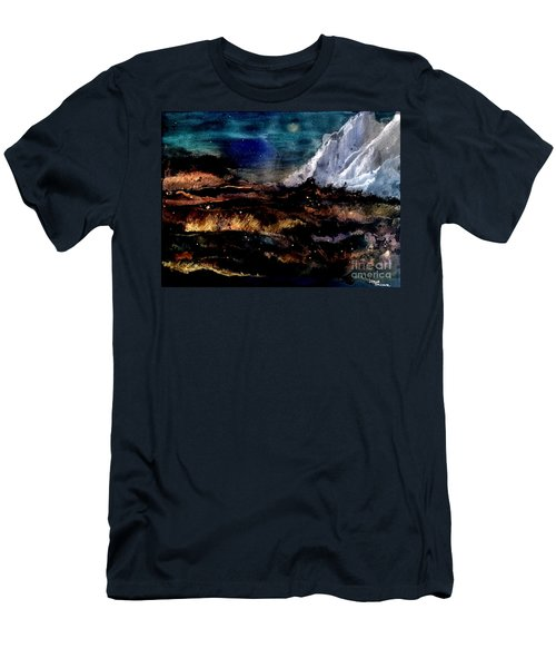 Men's T-Shirt (Athletic Fit) featuring the painting Eruption by Denise Tomasura