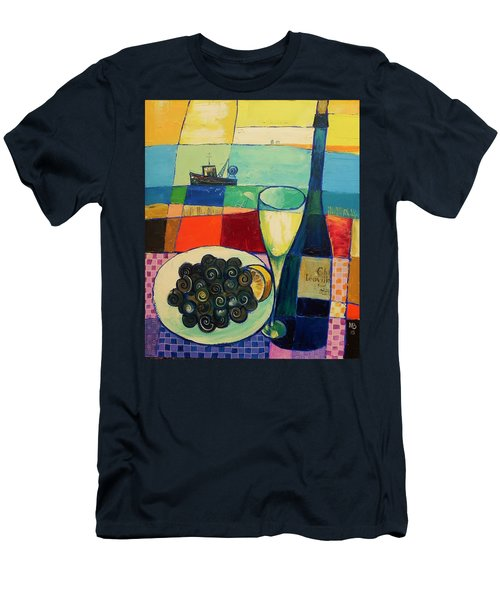 Men's T-Shirt (Slim Fit) featuring the painting Escargot by Mikhail Zarovny