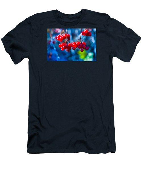 Men's T-Shirt (Slim Fit) featuring the photograph European Cranberry Berries by Alexander Senin