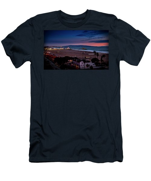 Evening Glow On The Pier Men's T-Shirt (Athletic Fit)